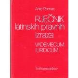 Rječnik latinskih pravnih izraza - Vademecum iuridicum