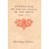 Anthologie des écrivains français du XIXe siècle: Poésie, T. 1.