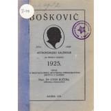 Bošković - Astronomijski kalendar za prostu godinu 1925.