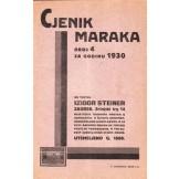 Cjenik maraka br. 4 za godinu 1930.