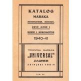 Katalog maraka Jugoslavije, Srbije, Crne Gore i Bosne i Hercegovine 1940-41.