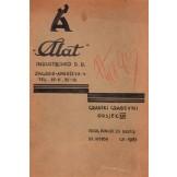 Alat - Industrijsko dioničko društvo, katalog proizvoda
