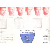 Kalendar za 1964. godinu - NK Dinamo