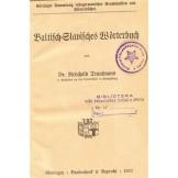 Baltisch-Slavisches Worterbuch