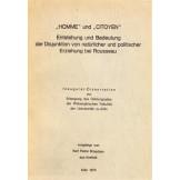 """""""Homme"""" und """"Citoyen"""" - Entstehung und Bedeutung der Disjunktion von natürlicher und politischer Erziehung bei Rousseau"""