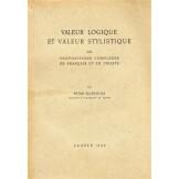 Valeur logique et valeur stylistique des propositions complexes en français et en croate
